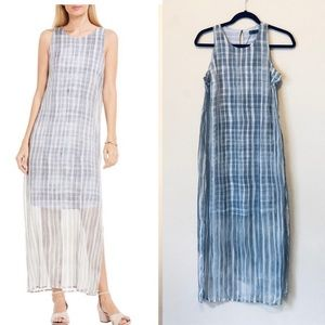 Vince Camuto Graceful Phrases Sheer Maxi